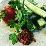【旬菜】冷やしトマトと胡瓜