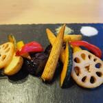 ダンスキューブ・カフェ - 7種の彩り揚げ野菜