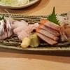 鈴の屋 - 料理写真:鰊、鰈、サーモン、くらげの刺身