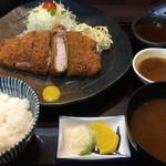 88672536 - 六白黒豚ロース定食