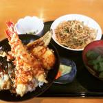 喰い道楽 すみよし - 料理写真:天丼セット(やきそば)  ¥1,080-
