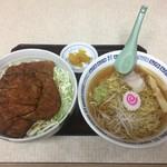 さわ屋食堂 - 料理写真:ラーメンとソースかつ丼\1,100+大盛り\100