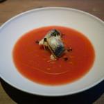 88675411 - トマトの冷製スープ