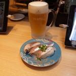 こだわり廻転寿司 まぐろ人 - エビス生ビール