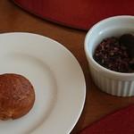 ナチュラルガーデン - カカオの蜂蜜ソース(購入出来ます)、丸いパン