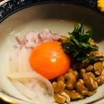 和食 魚佐次 - イカ納豆 350円