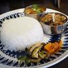 ハバチャル - 料理写真:2種盛りカレーセット