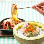 水刺齋 - 黒ゴマ豆乳素麺&チーズタッカルビ