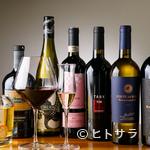 トラットリア ラ ロッカ - 料理の美味しさを引き立てる、個性豊かなワインが勢揃い