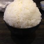 ホルモン天ぷら まめすけ - ご飯の大盛り