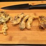 ホルモン天ぷら まめすけ - ハラミ、白肉、ハチノス、センマイ、ビチ