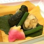 88688383 - 仙台野菜と鴨丸の炊き合わせ