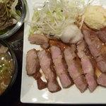 にんぎょう町 谷崎 - ポークソテー定食 税込1000円 3枚目、豚汁に変更 税込100円