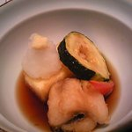 8869853 - 太刀魚と湯葉豆腐の揚げ出汁♪
