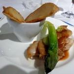 ブリーズベイホテル - チキンもも肉のロティ ハーブと山椒と共に