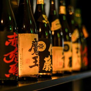 【銘酒の数々】選りすぐりの日本酒・焼酎で宴会を◎