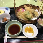 レストラン 函岳 - 天麩羅定食1200円