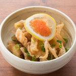 ■鶏皮レモンポン酢
