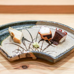 さき田 - 外房の黒鮑  明石の真蛸