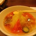 ホルモン焼肉・盛岡冷麺 道 - 盛岡冷麺(麺リフト)
