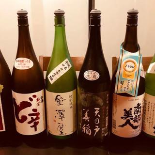 蕎麦とお酒の相性は抜群!!珍しい日本酒もあります◎