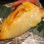 天ぷら天美巧 - 先付け 自家製 かれいの西京焼き