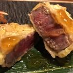 天ぷら天美巧 - 北海道産牛ヒレ肉柚子胡椒ジュレ掛け