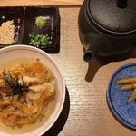 天ぷら天美巧 - 白海老の天茶漬け