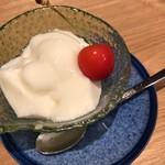 天ぷら天美巧 - 杏仁豆腐
