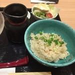 和酒百選 - ごぼう天うどん(冷)定食1