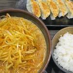 田所商店 - 北海道味噌肉ネギらーめん+餃子ライスセット
