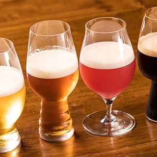 常時11種☆豊富なクラフトビール・自社醸造ビールも5tap!