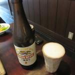 はん亭 - 瓶ビール(中)650円+Tax