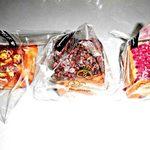 88716804 - ナッツのデニッシュ、チョコ・チョコクリーム、コケモモのブリオッシュキューブ