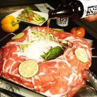 肉専用ビール出汁で食す!イタリアン羊しゃぶ