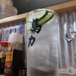 大衆居酒屋 馬力 - 金宮水割り胡瓜トッピング390円