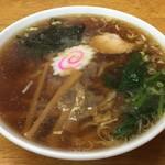 茶釜 - 茶釜 本店(福島県白河市本町)中華そば  650円