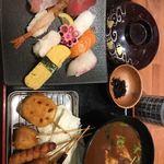 海鮮れすとらん 魚輝水産 草津店 - 寿司と串カツ定食