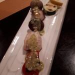 88722603 - 焼き物:梶木鮪と夏野菜の串焼き