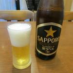 中華料理シーズ - 瓶ビール(サッポロ生ビール黒ラベル)