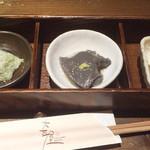 88729788 - 前菜3種盛り(豆腐盛り合わせ)