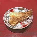 三合菴 - 大きな鱚の天ぷら