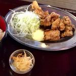 フジヤマドラゴン - 鶏の唐揚げ定食(並) 500円