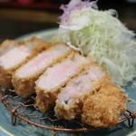 熟豚 - 料理写真:超特上ロースかつ定食(200g)