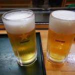 寿司・御食事処 敏 - ビール