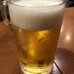 もつ千 - 乾杯の生ビール
