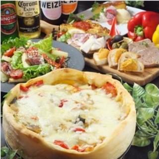 溢れるチーズのシカゴピザ!