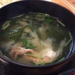 魚大将 - 海鮮御膳のお味噌汁(小さなカニ入りでした)