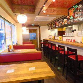 さりげない雰囲気がまたお洒落*タイ料理をバルスタイルの空間で