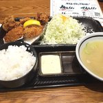 北海道厚岸 - 鶏ザンギ定食